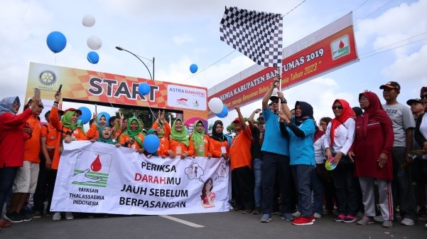 "Photo of Thalassaemia Month of Banyumas 2019 -""Banyumas Goes to Zero Growth of Thalassaemia 2023"""