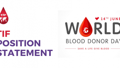 Photo of TIF Issues Position Statement in Honour of the World Blood Donor Day 2020