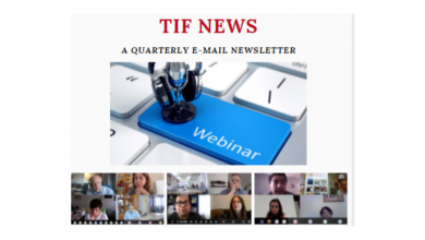 Photo of TIF Newsletter – August 2020