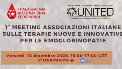 Photo de TIF & UNITED Onlus To Co-Host The 1st PanItalian Associations Meeting On New Therapies For Haemoglobinopathies